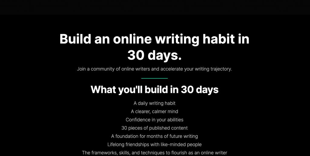 ship 30 for 30 cohort course