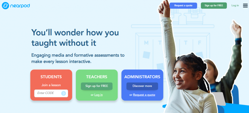 Online teaching tools: Nearpod
