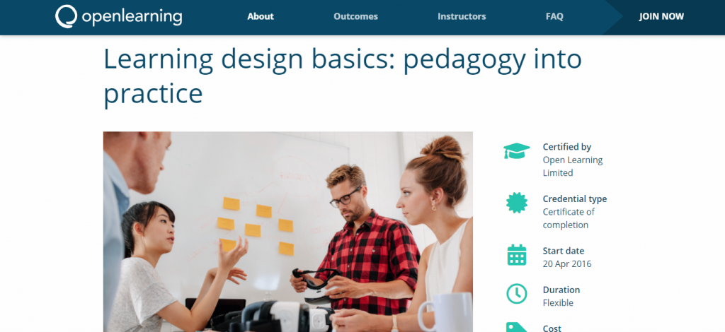 Learning design basics by Open learning