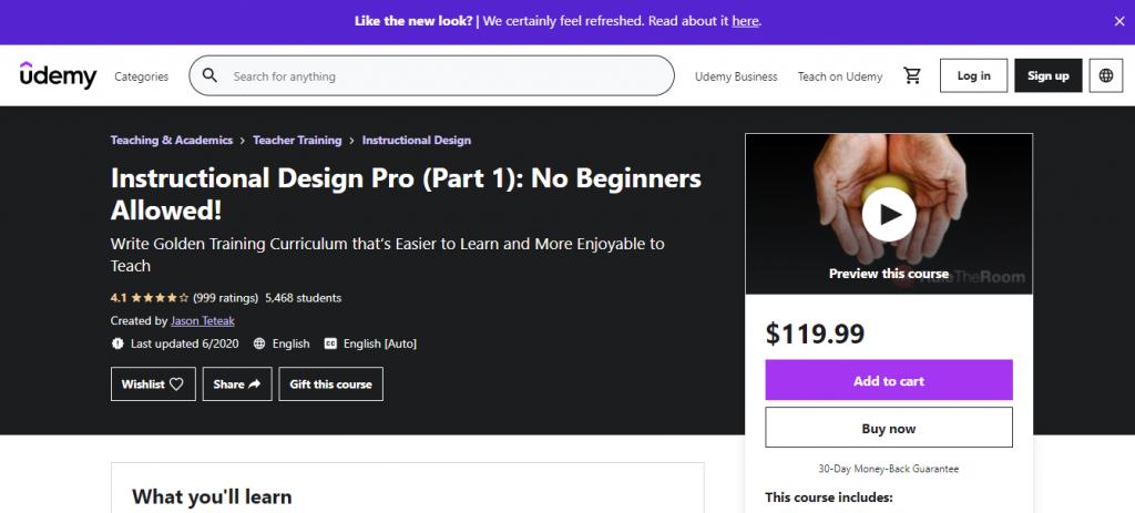 Instructional Design Pro by Udemy