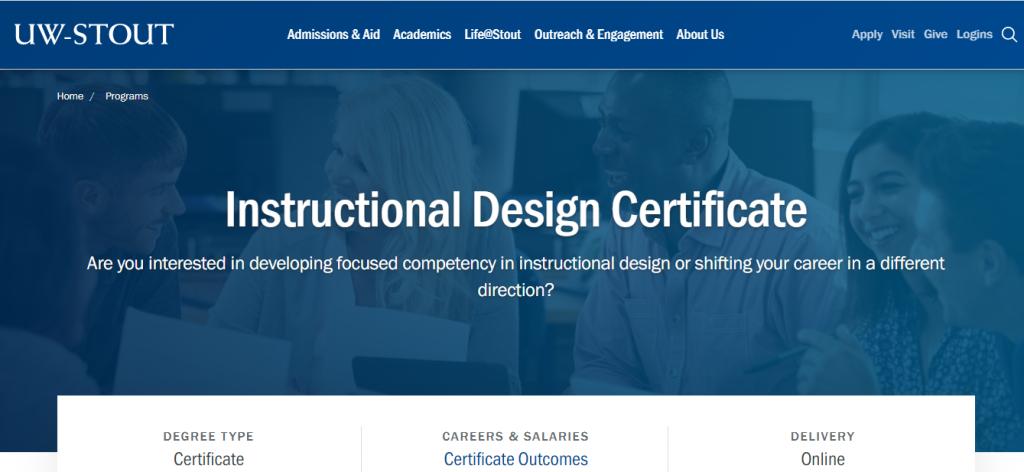 Instructional Design Certificate